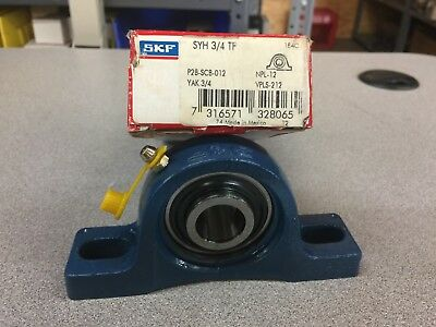 New In Box Skf Pillow Block Bearing Syh 3/4 Tf