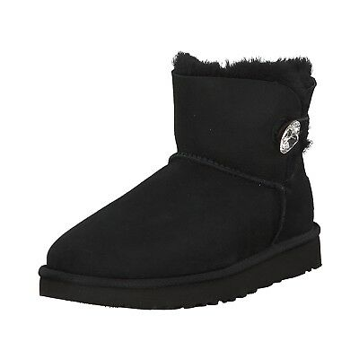 Classic Ugg Mini Bling Damen Button Bailey Stiefel Boots UMpzVS