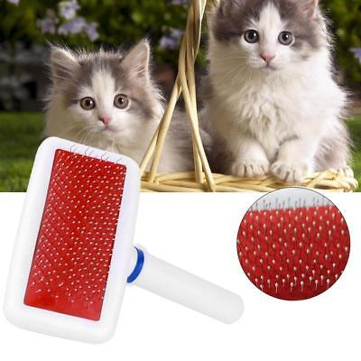 Red Hair Shedding Grooming Trimmer Fur Comb Brush Slicker For Pet Puppy Dog Cat