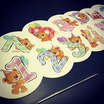 Teddy bear themed monthly bodysuit baby stickers