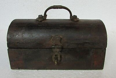 Vintage Old Handcrafted Wooden Unique Shape Jewellery Box, Collectible