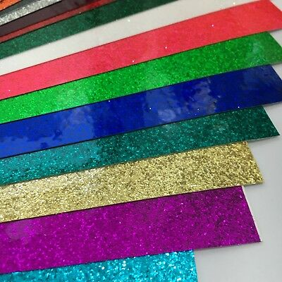 GLITTER FLAKE Sign Vinyl, 3 sheets, 8 x 12 inch, Choose Your Colors