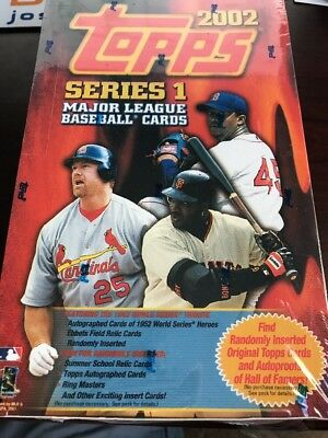 2002 Topps Baseball Series 1 Unopened Factory Sealed Box Of Cards 36 Packs