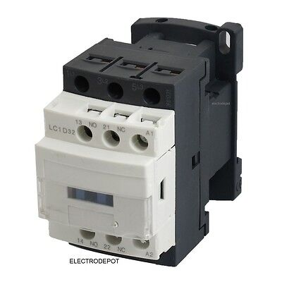 LC1D32 REPLACEMENT ELECTRIC CONTACTOR 50A AC-1 600V 3 Pole 32Amp AC-3 120V Coil