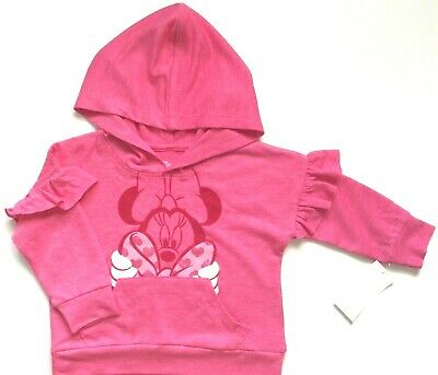 Disney Minnie Girls' Pink Pullover Hoodie