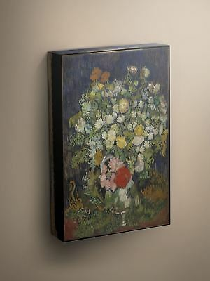 Van Gogh Bouquet of Flowers in a Vase 1890 Canvas Art Print #003976