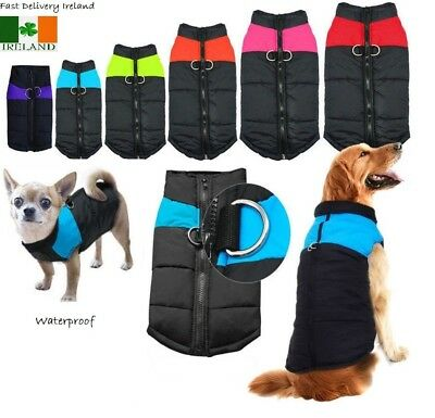 Winter Warm Dog Waterproof Clothes Padded Pet Quality Coat Jacket Small 5XLarge