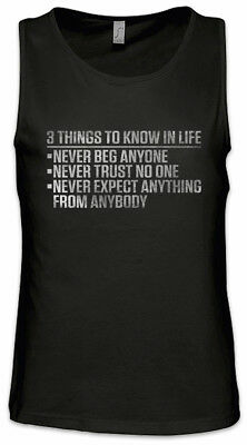 52975203a57 3 Things To Know In Life Men Tank Top Scarface Tony Movie Quote Fun Montana