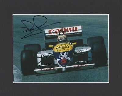Nigel Mansell Formula One 1 Driver Original Hand Signed Mounted Autograph Photo