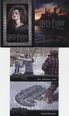 Harry Potter Deathly Hallows Part 1 Collector/Trading Cards Partial Set