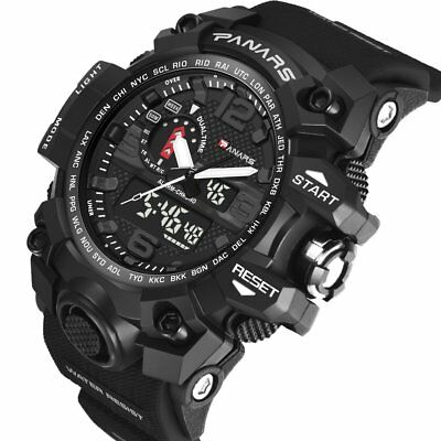 Multi-Functional Double Pointer Outdoor Sport Male Electronic Watch PANARS8202 E