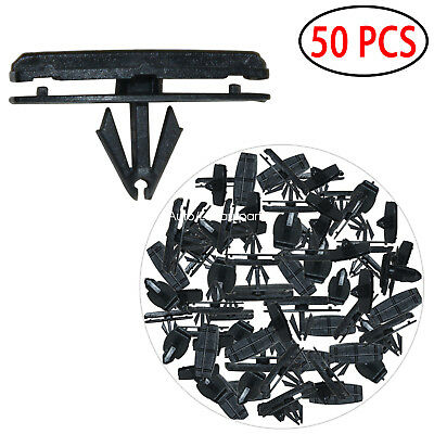 Auto Body Clips 50 PCS Fender Flare Moulding Clips Nylon Fit For Chrysler Jeep