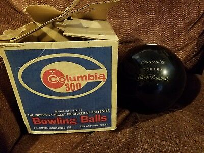 Brunswick Black Diamond Undrilled Bowling Ball 15 Lb 9 Oz Nos In Old Box Vintage