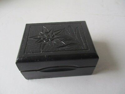 Vintage Twin Stamp Box With Edelweiss Flower - Black Forest ??