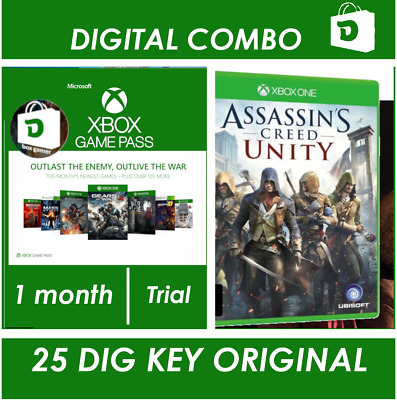 Assassins Creed Unity Xbox one + Xbox Game Pass 1 month Trial
