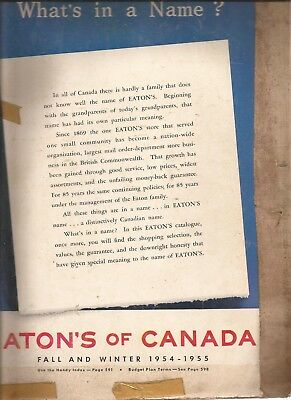 Eaton's of Canada Winter 1954/55 Catalog in VG condition 696 pages