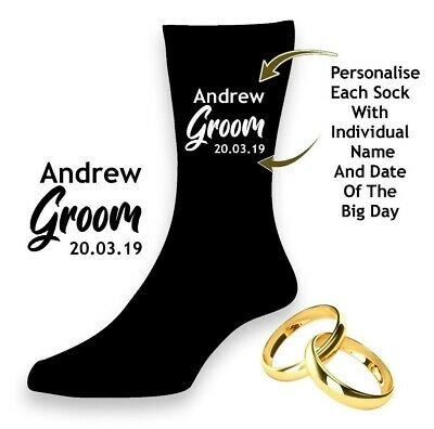 Men's Wedding Socks Best Man Brother of Groom Usher Father of Bride PERSONALISED