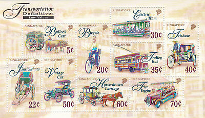 "Singapore, 1997, ""transportation Definitive"" S/s Mint Nh Fresh Good Condition"