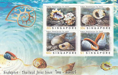 "Singapore, 1997, ""sea Shell - Joined Thailand"" S/s Mint Nh Fresh Good Condition"