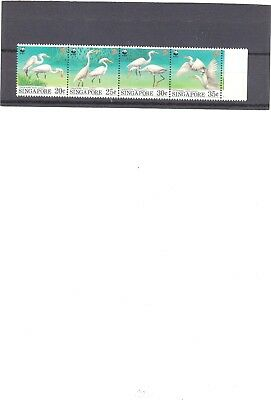"Singapore, 1993, ""wwf -Bird Of Singapore"" Stamp Set Mint Nh Fresh Good Condition"