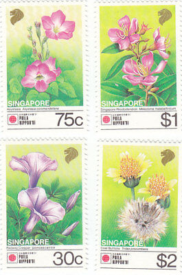 "Singapore, 1991, ""flora-Phila-Nippon"" Stamp Set On Gpo Fdc Fresh Good Condition"