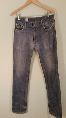 hot sale online 1d3fa 33a08 FRANKLIN MARSHALL MEN'S Jeans 100% Light Wash Cotton Ripped Repaired Italy  Sz 32