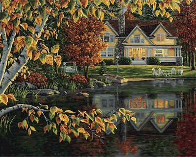 Plaid Autumn Reflections Paint by Number Kit
