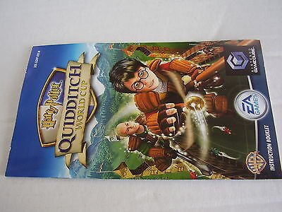 Nintendo Gamecube  Replacement Instruction Manual Harry Potter Quidditch World C