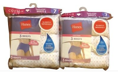 6 pack hanes womens briefs sizes 6 - 12 choose your size