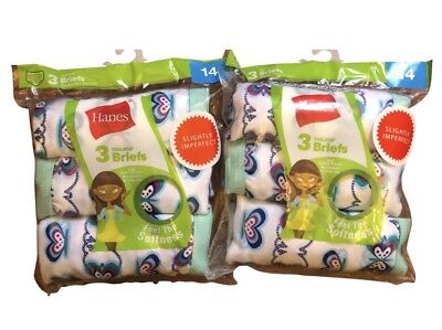 6 pack Hanes girls briefs sizes sizes 6-16 choose your size