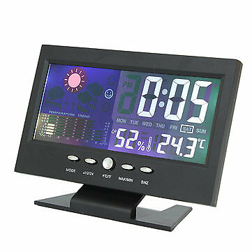 iMars Color LCD Screen Calendar Digital Clock Car Thermometer Weather Forecast
