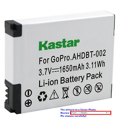 Kastar Replacement Battery for AHDBT 002 & Gopro HD HERO2 Motorsports Edition
