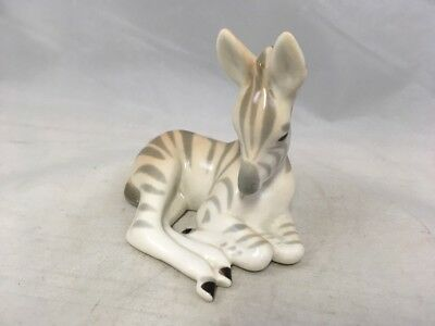 Vintage Zebra Figurine Porcelain Zebra Calf Made in USSR 3.5""