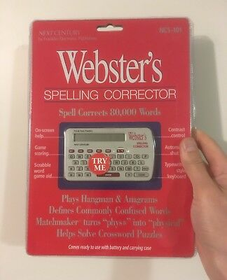 Webster's Spelling Corrector with Games (NCS-101)
