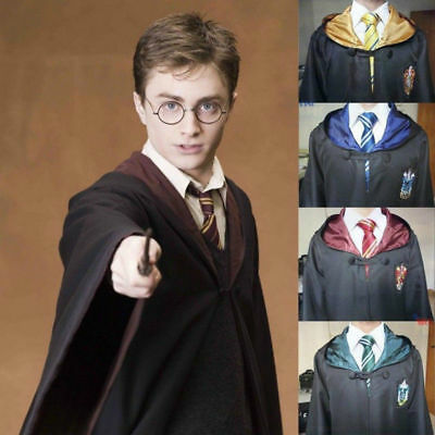 Adult/Kids Wizard Costume Harry Potter Cloak Robe Cape Halloween Cosplay Outfit