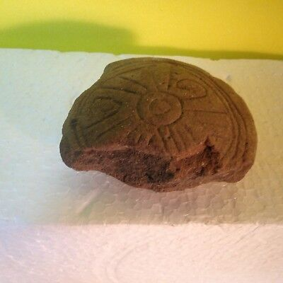 Ancient Authentic Zapotec Pre-Columbian Clay Carved