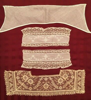 Vintage Lace Collars - Lot Of 4