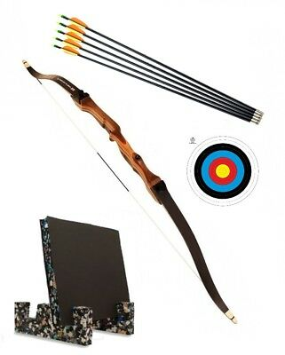 """68"""" Take Down Target Archery Recurve Bow Set for Adults Target & Stand COMPLETE"""