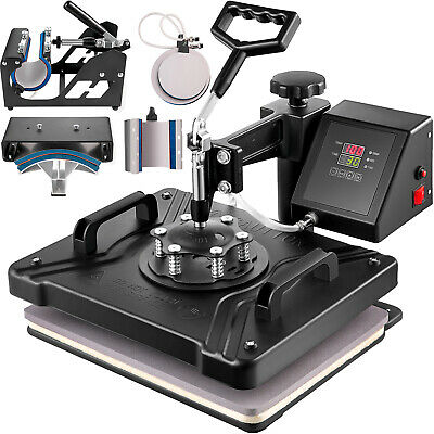 6in1 Digital Heat Press Transfer Machine T-shirt 30x38cm DIY Clamshell Pressing