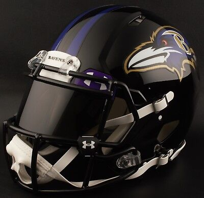d55efeff9 ***CUSTOM*** BALTIMORE RAVENS Full Size NFL Riddell SPEED Football Helmet