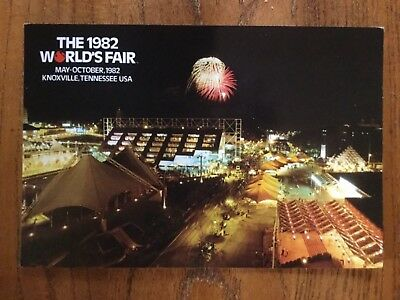 Postcard Unused 1982 Knoxville, Tennessee World's Fair-Nightly Fireworks