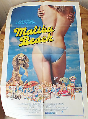 MALIBU BEACH 1978 MOVIE POSTER Original 27 x 41 Inches