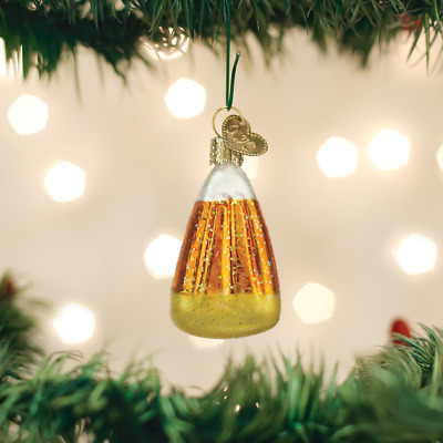 Old World Christmas Candy Corn Glass Halloween Ornament 26084