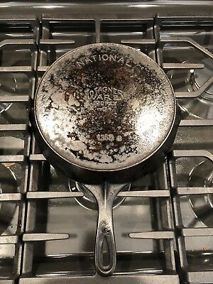 Wagner Ware Sidney National  No.8 Cast Iron Skillet Pan with Heat Ring 1358B