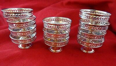 Group of 11 Vintage Nut or Candy Dishes or Cups w/ Pierced Design (#5022)