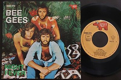 Bee Gees 1977 Single Made In Portugal 45 Ps 7 *down The Road / Night Fever*