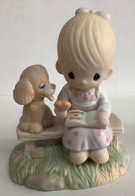 Precious Moments Figurine Love is Sharing Beautiful Gift