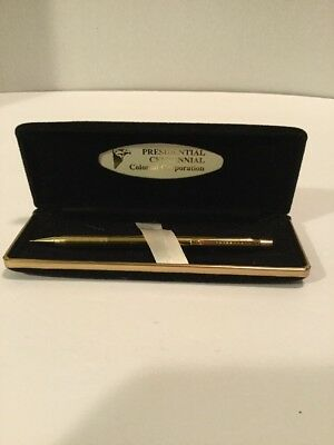 Presidential Centennial Colonial Corp Gold Toned Mechanical Pencil in Case Works