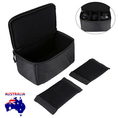 AU POST SLR DSLR Lens Camera Bag Carry Case For Nikon Canon Sony + Carry Strap