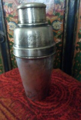 vintage silver plated cocktail shaker